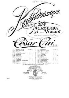 No.4 Simple chanson: Score, solo part by César Cui
