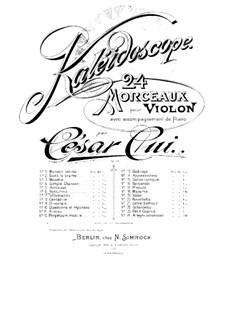 No.6 Notturino: Score, solo part by César Cui