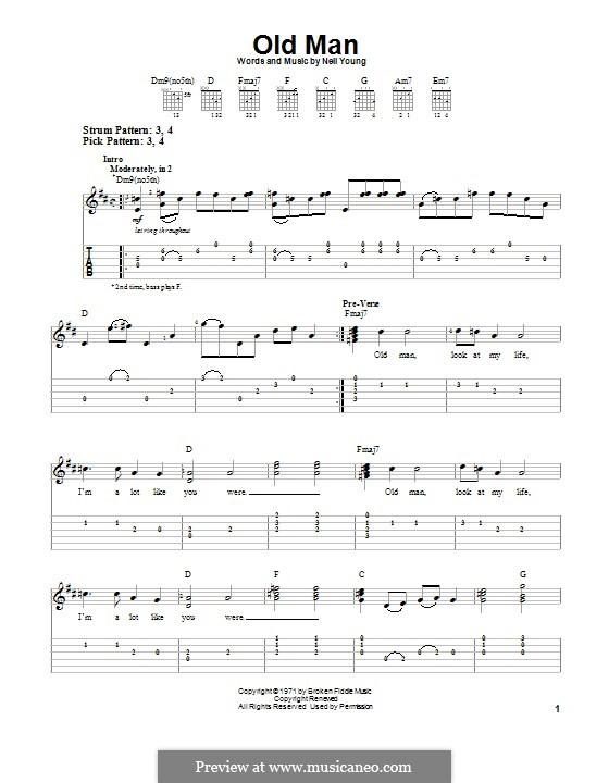Old Man: For guitar with tab by Neil Young