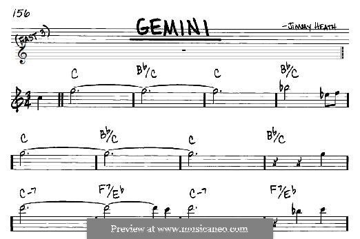 Gemini: For any instrument by Jimmy Heath
