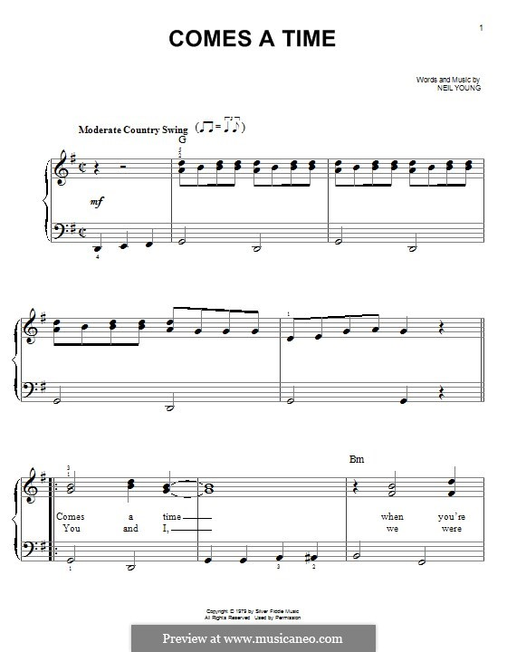 Comes a Time: For piano by Neil Young