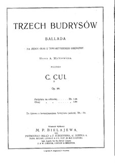 Budrys and His Sons, Op.98: Full score by César Cui