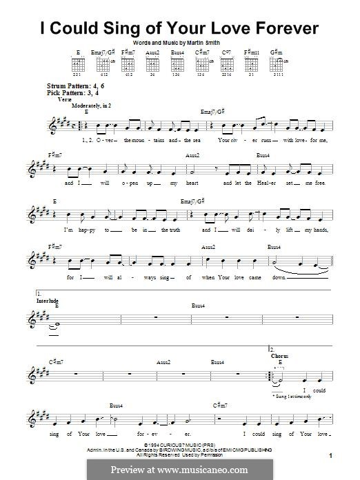 I Could Sing of Your Love Forever by M. Smith - sheet music on MusicaNeo
