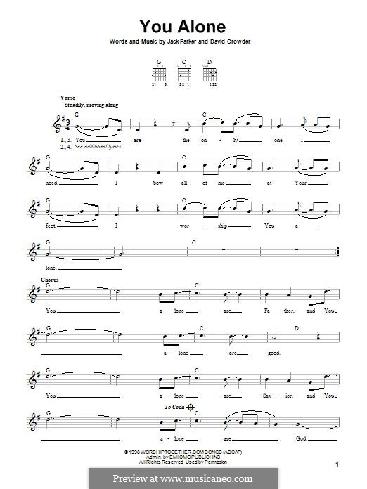 You Alone (Passion): For guitar with tab by David Crowder, Jack Parker