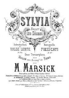 Sylvia: Introduction and Waltz, for Violin and Piano by Léo Delibes