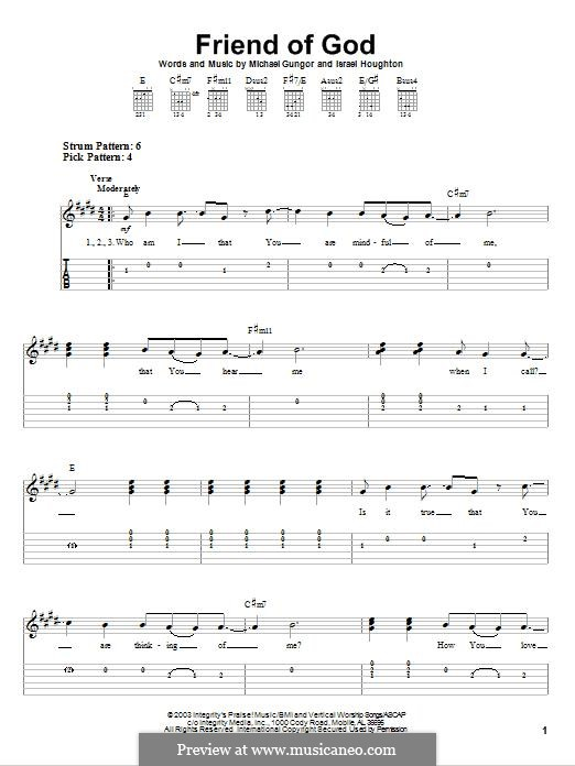 Friend of God: For guitar with tab by Israel Houghton, Michael Gungor