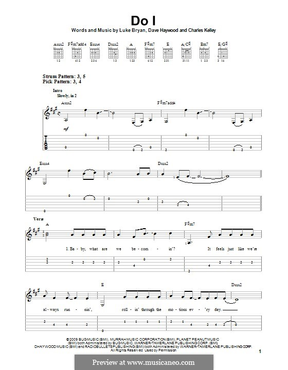 Do I: For guitar with tab by Charles Kelley, David Haywood, Luke Bryan