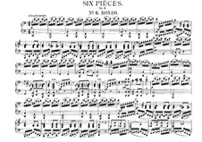 Six Easy Pieces for Piano Four Hands, J.9–14 Op.3: No.6 Rondo by Carl Maria von Weber