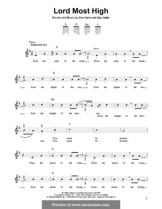 Lord Most High (The Martins): For guitar with tab by Don F. Harris, Gary Sadler