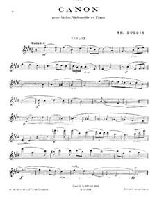 Canon for Piano Trio: Violin part by Théodore Dubois