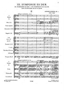 Symphony No.3 in E Flat Major, B.34 Op.10: Movement I by Antonín Dvořák
