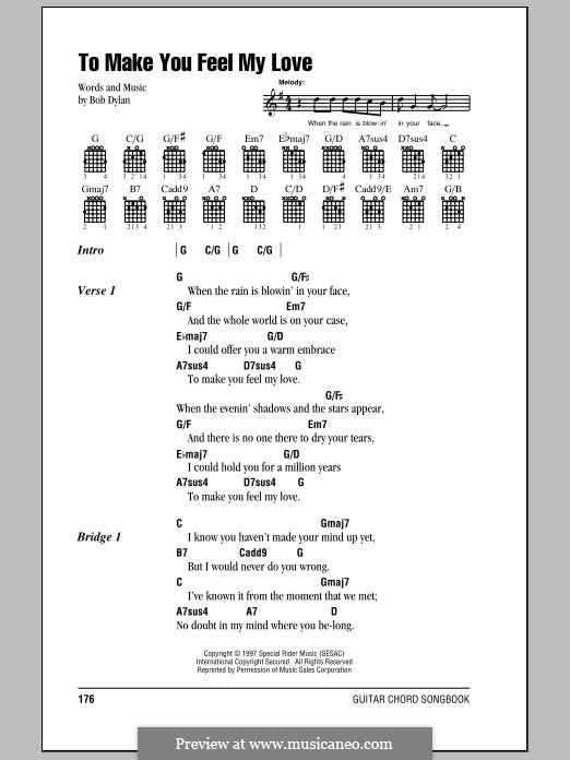 Make You Feel My Love by B. Dylan - sheet music on MusicaNeo