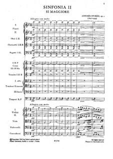 Symphony No.2 in B Flat Major, B.12 Op.4: Movement I by Antonín Dvořák