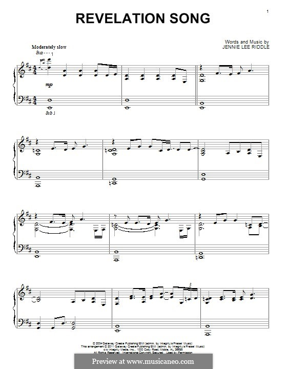 Revelation Song (Passion): For piano by Jennie Lee Riddle