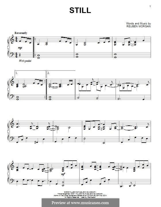 Still: For piano by Reuben Morgan