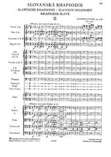 Rhapsody No.2 in G Minor: Full score by Antonín Dvořák