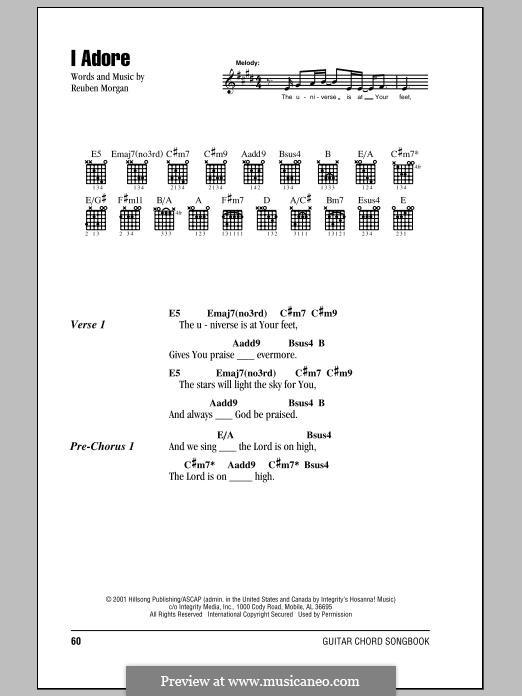 I Adore (Hillsong United): Lyrics and chords by Reuben Morgan