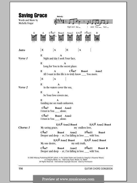 Saving Grace (Hillsong United): Lyrics and chords by Marty Sampson, Joel Houston, Michelle Fragar