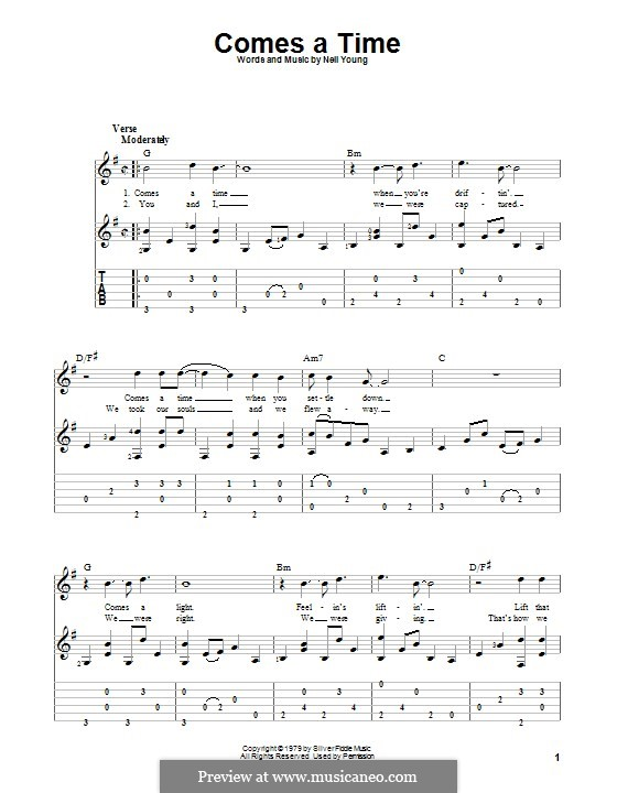 Comes a Time: For guitar with tab by Neil Young