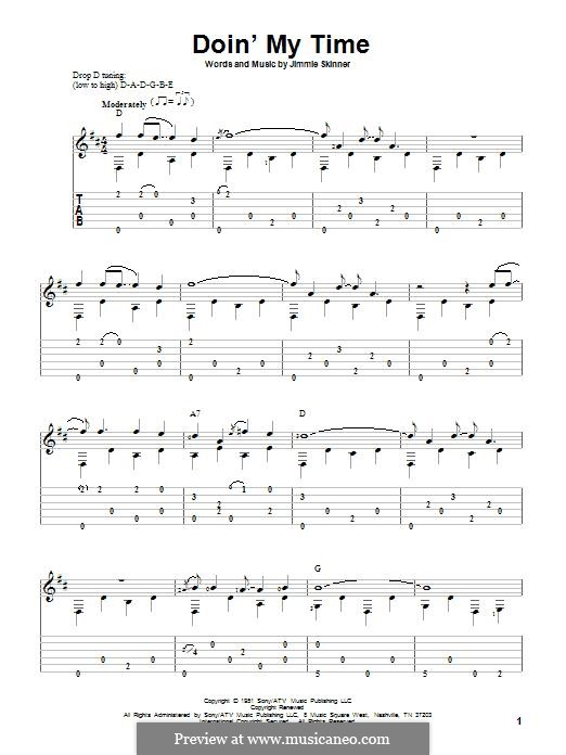 Doin' My Time: For guitar with tab by Jimmie Skinner