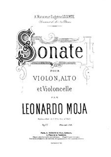 Sonata for String Trio, Op.22: Cello part by Leonardo Moja