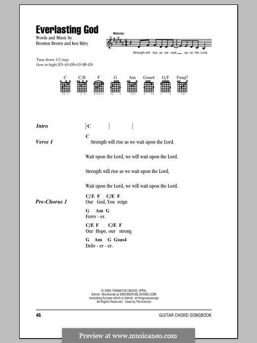 Everlasting God by B. Brown, K. Riley - sheet music on MusicaNeo