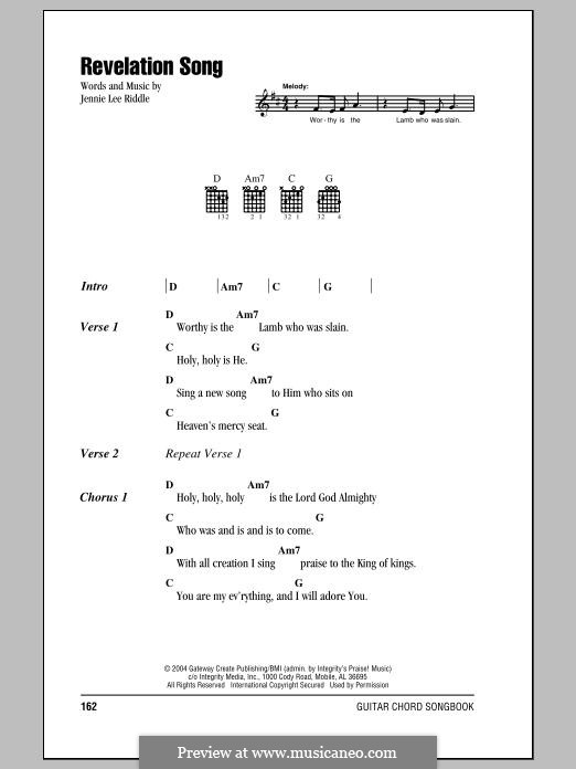 Revelation Song (Passion): Lyrics and chords by Jennie Lee Riddle