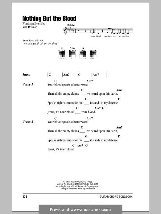 Nothing But the Blood: Lyrics and chords by Matt Redman