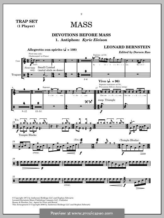 Mass: Drum set by Leonard Bernstein