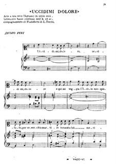 Uccidimi dolore: Uccidimi dolore by Jacopo Peri