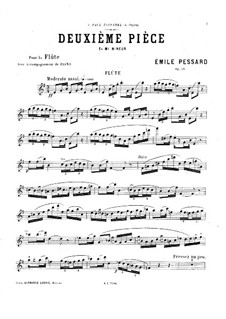 Piece for Flute and Piano No.2, Op.28: Solo part by Emile Pessard