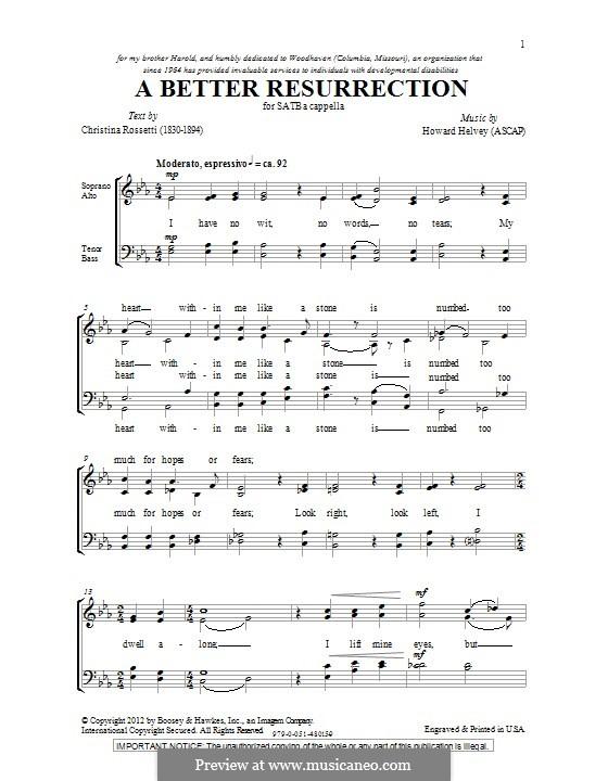 A Better Resurrection: For mixed choir by Howard Helvey