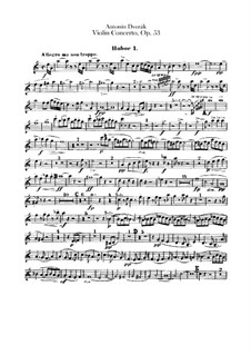 Concerto for Violin and Orchestra in A Minor, B.108 Op.53: Oboes parts by Antonín Dvořák