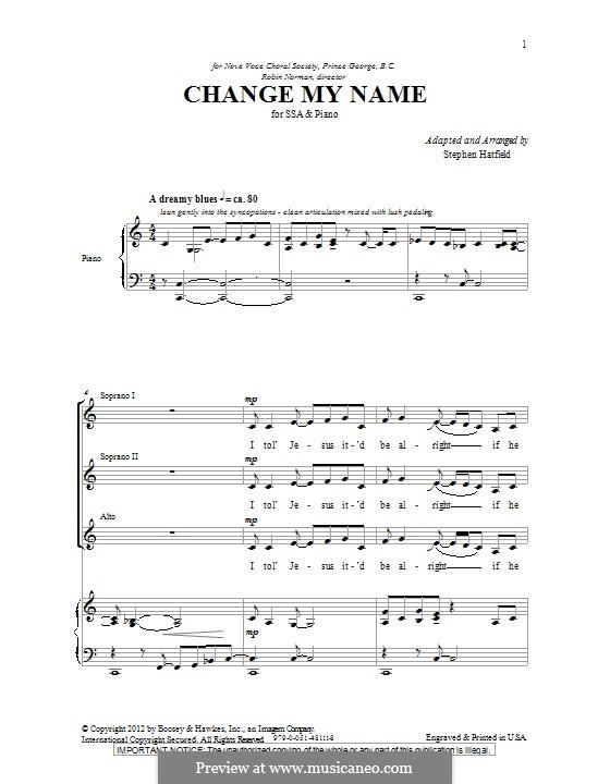 Change My Name: SSA by Stephen Hatfield