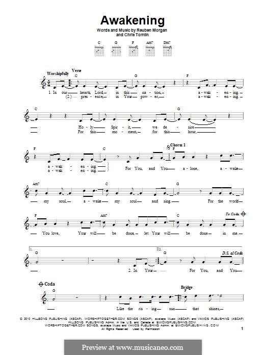 Awakening (Passion): For guitar with tab by Chris Tomlin, Reuben Morgan