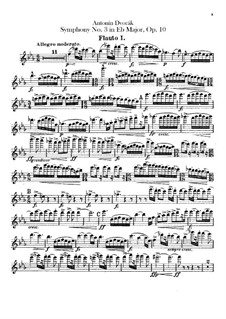 Symphony No.3 in E Flat Major, B.34 Op.10: Flutes parts by Antonín Dvořák