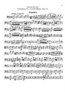 Symphony No.3 in E Flat Major, B.34 Op.10: Bassoons parts by Antonín Dvořák