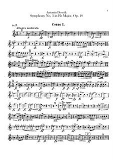 Symphony No.3 in E Flat Major, B.34 Op.10: Horns parts by Antonín Dvořák