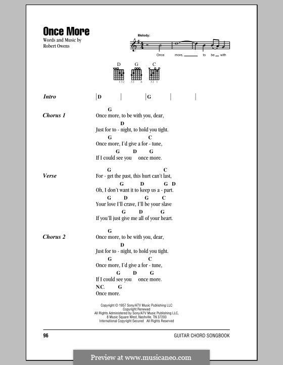 Once More: Lyrics and chords by Robert Owens