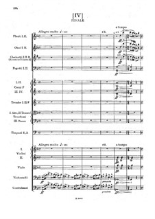 Symphony No.5 in F Major, B.54 Op.76: Movement IV by Antonín Dvořák