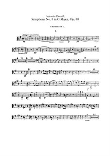 Complete Symphony: Trombones and tuba parts by Antonín Dvořák