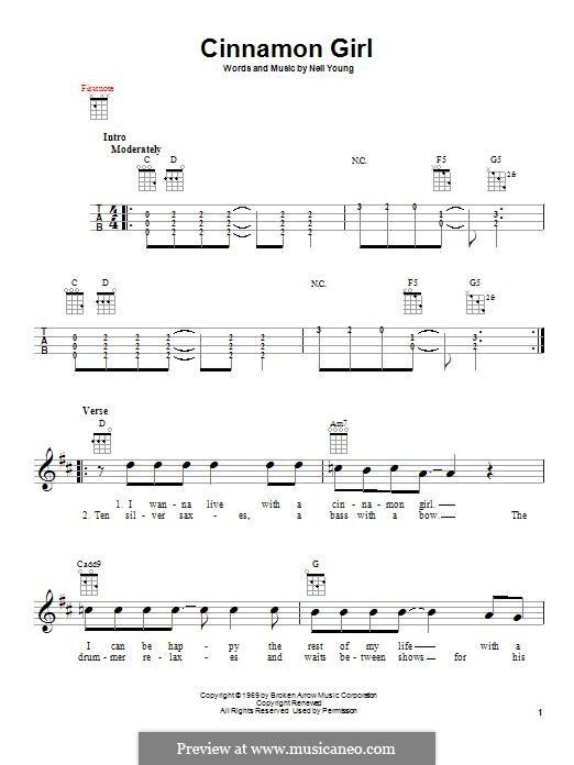 Cinnamon Girl: For ukulele by Neil Young