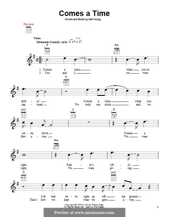 Comes a Time: For ukulele by Neil Young