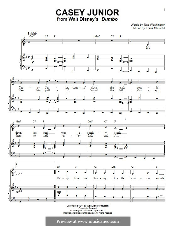 Casey Junior: For voice and piano by Frank Churchill