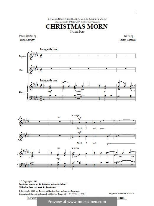 Christmas Morn: For mixed choir by Imant Raminsh
