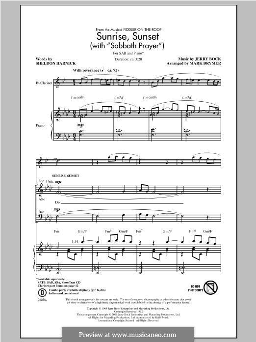 Sabbath Prayer: For mixed choir by Jerry Bock