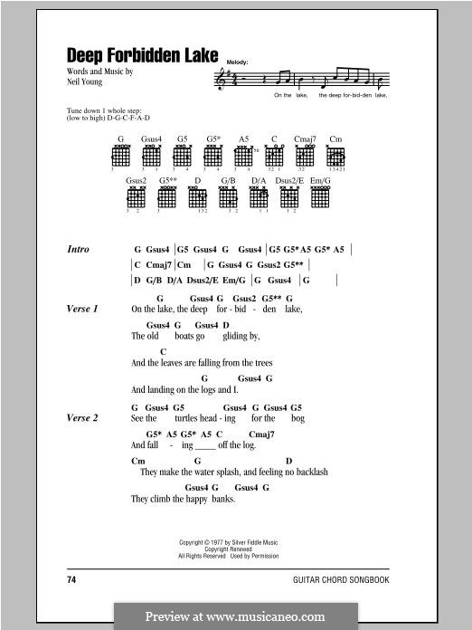 Deep Forbidden Lake by N. Young - sheet music on MusicaNeo