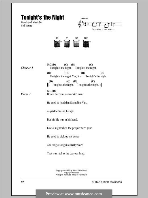 Tonight's the Night: Lyrics and chords by Neil Young