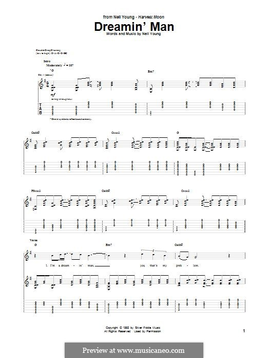 Dreamin' Man: For guitar with tab by Neil Young
