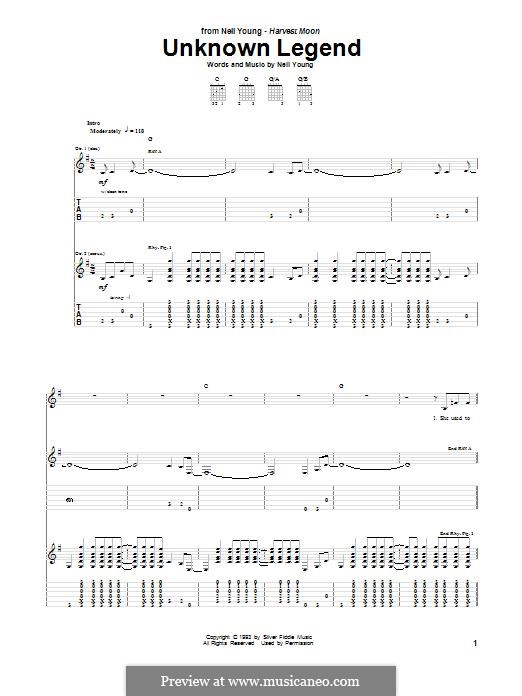 Unknown Legend: For guitar with tab by Neil Young